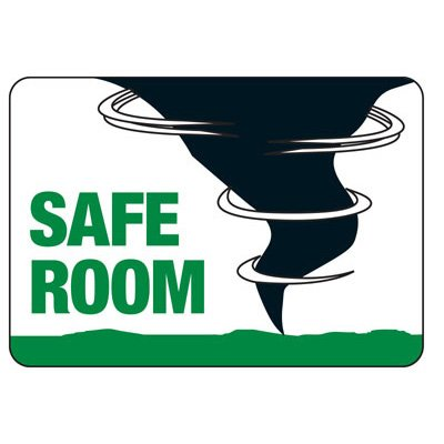 Safe Room - Evacuation Sign