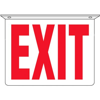 Exit - 2-Way Ceiling Mounted Signs