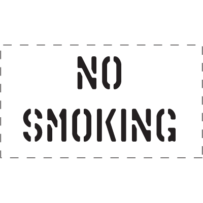 No Smoking - Fire & Exit Equipment Stencil