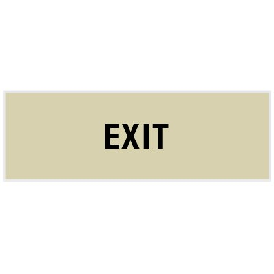 Exit - Engraved Standard Worded Signs