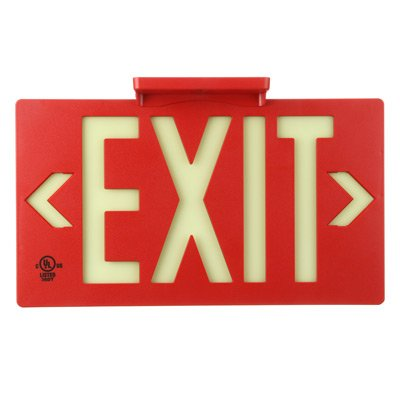 Jessup Glo Brite Photoluminescent UL924 PF50/ 100 Exit Sign