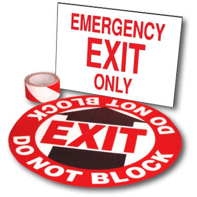 Exit Path Marking Kits - Emergency Exit Only