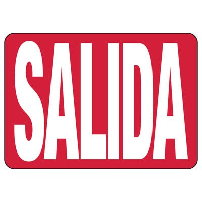 Salida - Spanish Industrial Exit Signs