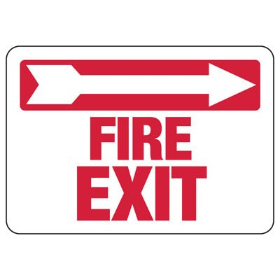 Fire Exit (Right Arrow) - Industrial Exit Signs