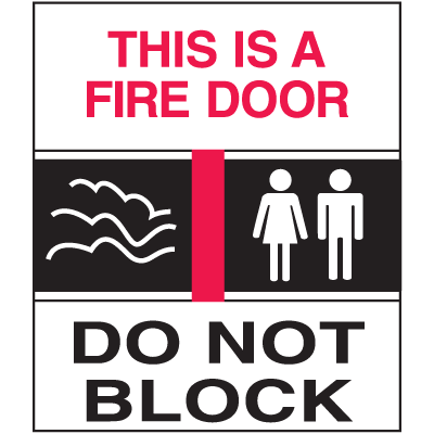 This Is A Fire Door Sign - Exit/Fire Polished Plastic Sign