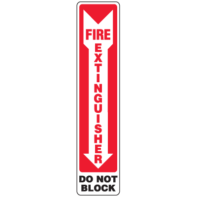 Fire Extinguisher Do Not Block Sign - Polished Plastic Sign