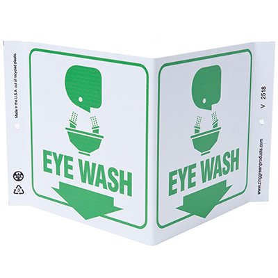 Eye Wash V-Style Sign