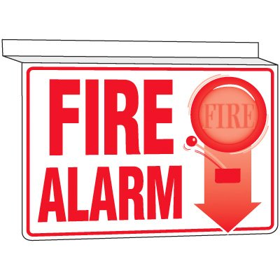 Fire Alarm - Drop Ceiling Sign