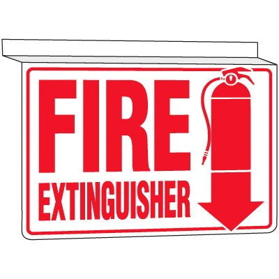 Fire Extinguisher - Drop Ceiling Sign