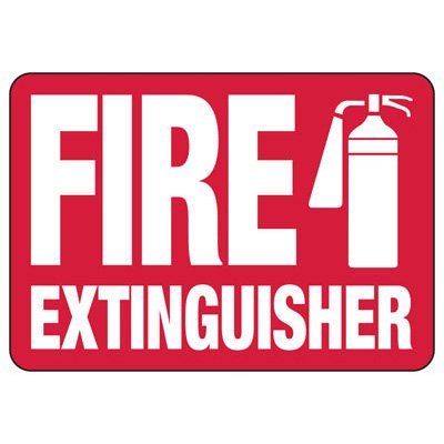 Fire Extinguisher With Graphic - Fire Safety Signs