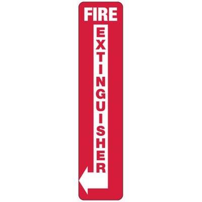 Fire Extinguisher (Left Arrow) - Industrial Fire Signs