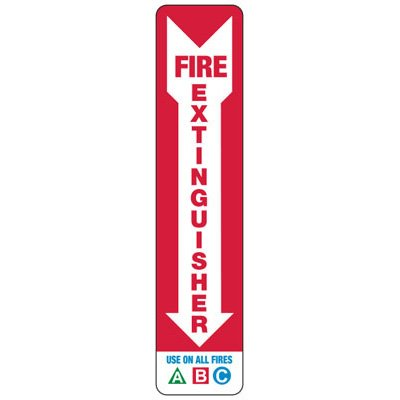 Fire Extinguisher Use On All Fires - Industrial Fire Signs