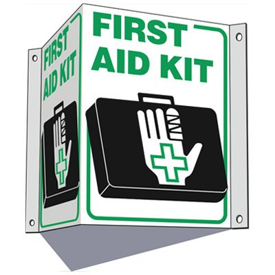 First Aid Kit - 3-Way First Aid Sign