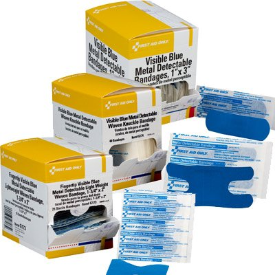 First Aid Only® Adhesive Metal Detectable Bandages