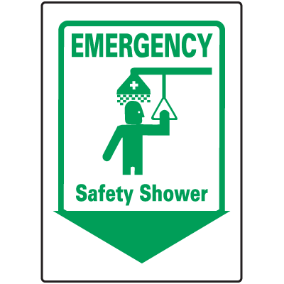 Emergency Safety Shower Signs