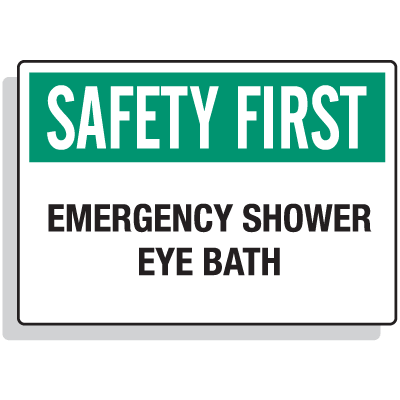 Safety First Signs - Emergency Shower Eye Bath