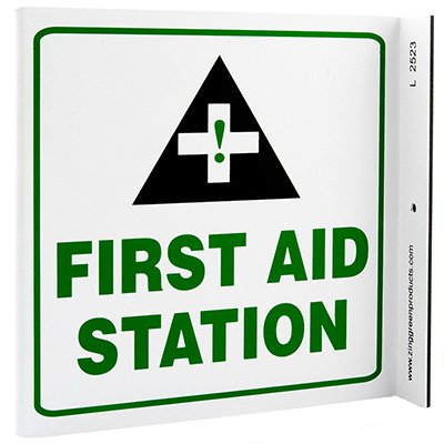 First Aid Station L-Style Sign