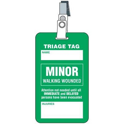 Minor Triage Tag