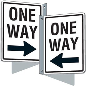 Flanged Traffic Signs - One Way (Right Arrow)
