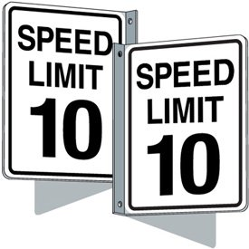 Flanged Traffic Signs - Speed Limit 10 mph