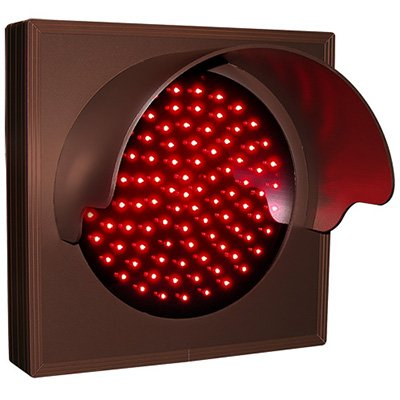 Flashing Hooded Red Direct View Sign