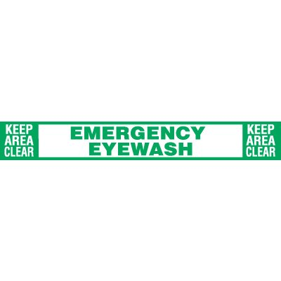 Emergency Eyewash - Keep Area Clean Floor Label