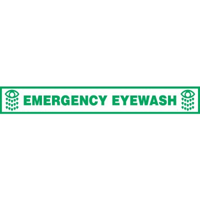 Emergency Eyewash Floor Label