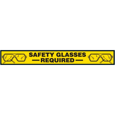 Safety Glasses Required - Floor Marking Strips