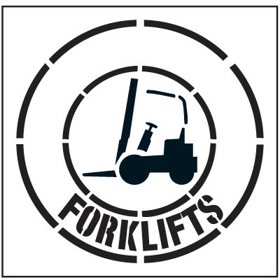 Large Floor Stencils - Forklifts