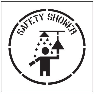 Floor Stencils - Safety Shower