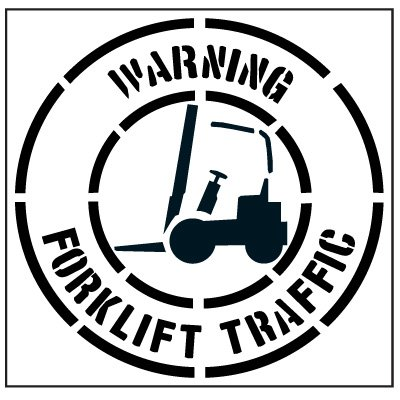 Large Floor Stencils - Warning Forklift Traffic