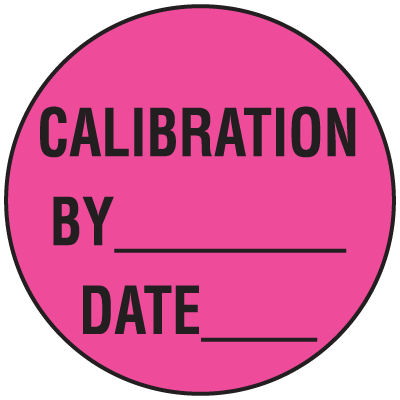 Calibration By Date Fluorescent Dot Labels