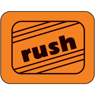 Rush Fluorescent Handling Labels