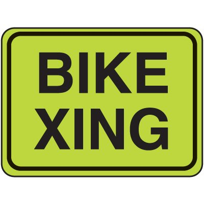 Fluorescent Pedestrian Signs - Bike Xing