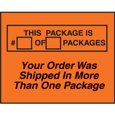 More Than One Package Fluorescent Shipping Labels