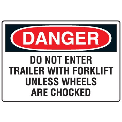 Forklift Safety Signs - Danger Do Not Enter