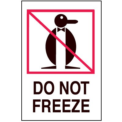 Fragile Labels - Do Not Freeze
