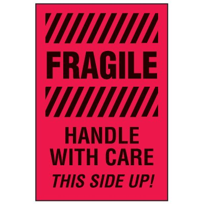 Fragile Labels - Fragile Handle With Care Side Up