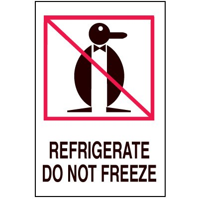 Fragile Labels - Refrigerate Do Not Freeze