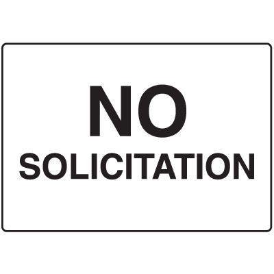 No Solicitation Gate Directional Signs