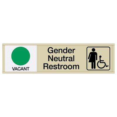 Gender Neutral Restroom Sliders W/ Accessibility Vacant/Occupied