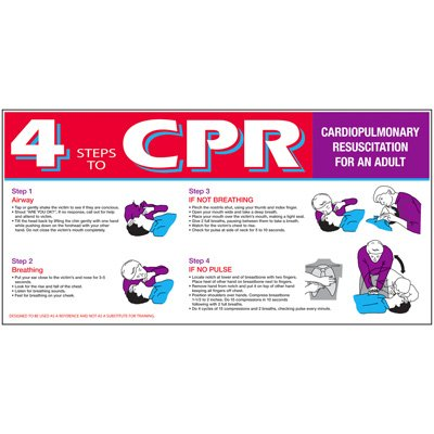 Giant Instructional Wall Graphics - 4 Steps to CPR