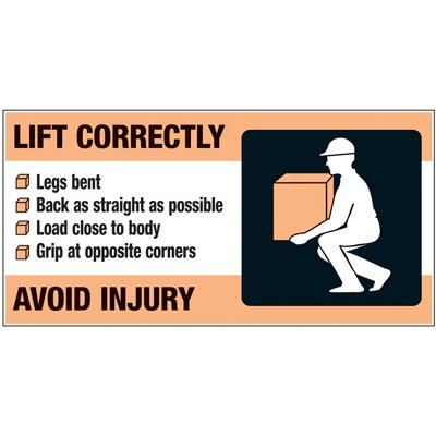 Giant Motivational Wall Graphics - Lift Correctly Avoid Injury