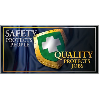 Giant Motivational Wall Graphics - Safety Protects People