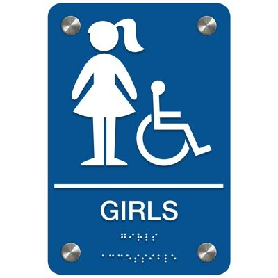 Girls (Accessibility) - Premium ADA Restroom Signs