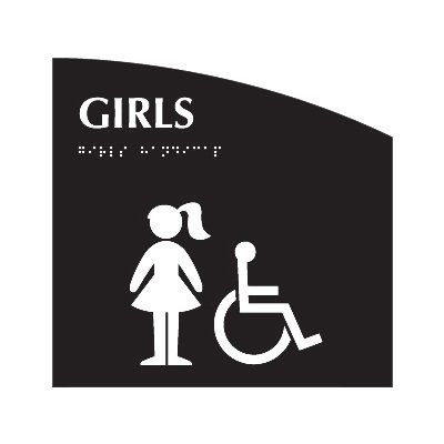 Girls (Accessibility) - Evolution Restroom Signs