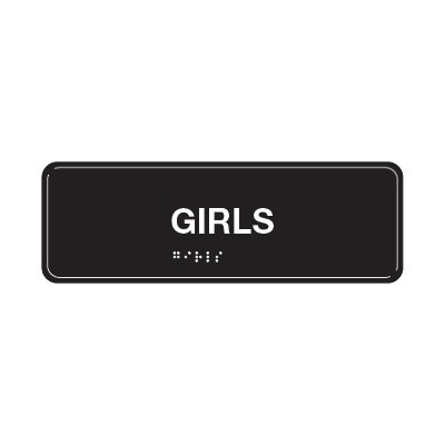Girls - ADA Braille Tactile Signs