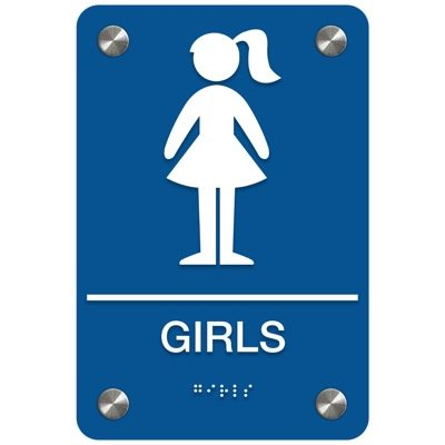 Girls - Premium ADA Restroom Signs