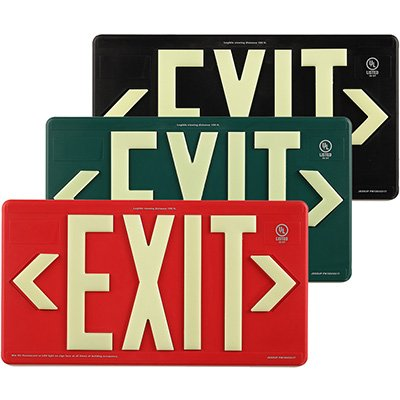 Glo Brite Photoluminescent Indoor/Outdoor Exit Sign