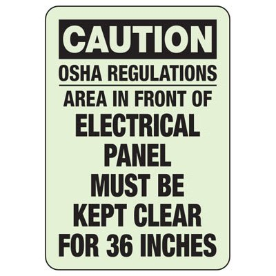 Caution OSHA Regulations Area - Electrical Safety Sign